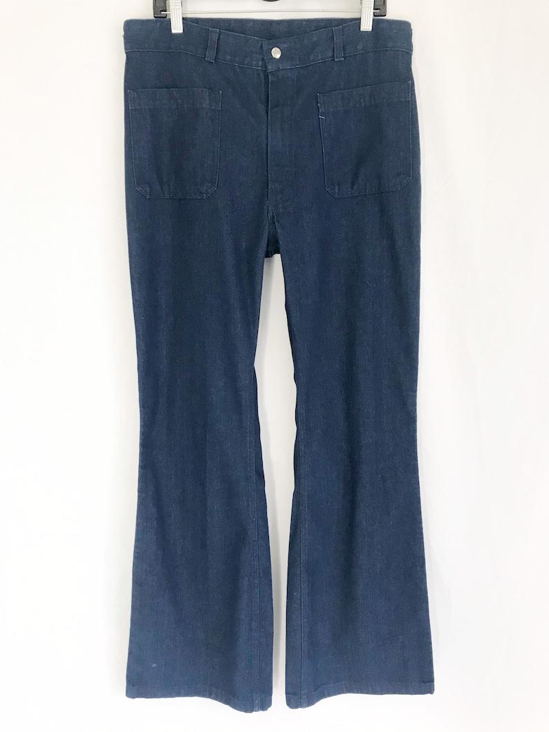 Waist 35 Vintage 70\u2019s SEAFARER Flare High Waist Jeans