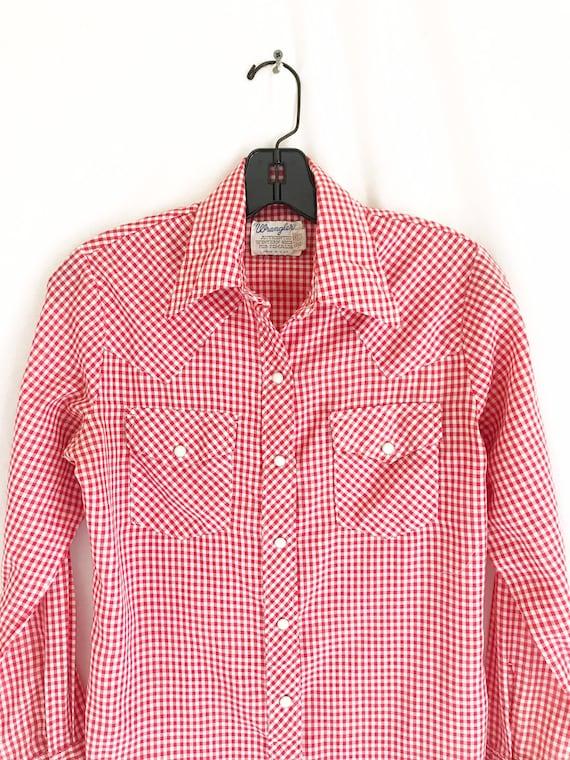 Vintage 70's Wrangler Women's Western Shirt. Size