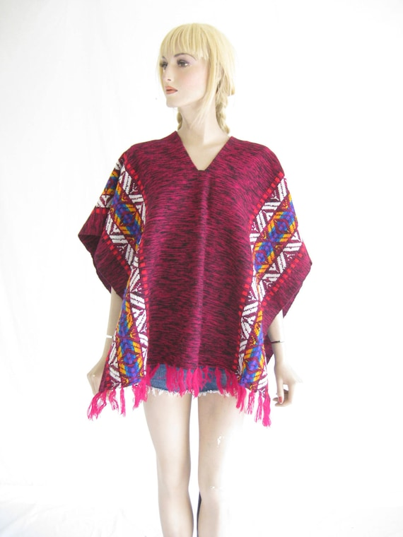 Vintage Embroidered Boho Hippie Poncho.