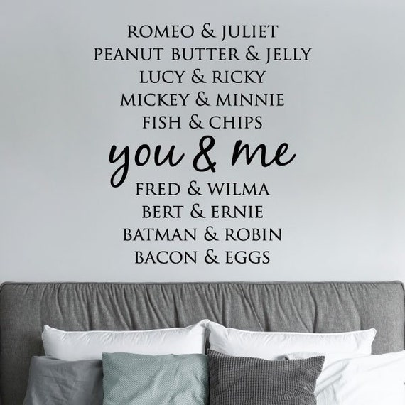 wall quotes decal you and me love marriage home family wall