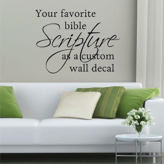 custom vinyl decal create your own bible verse wall quotes