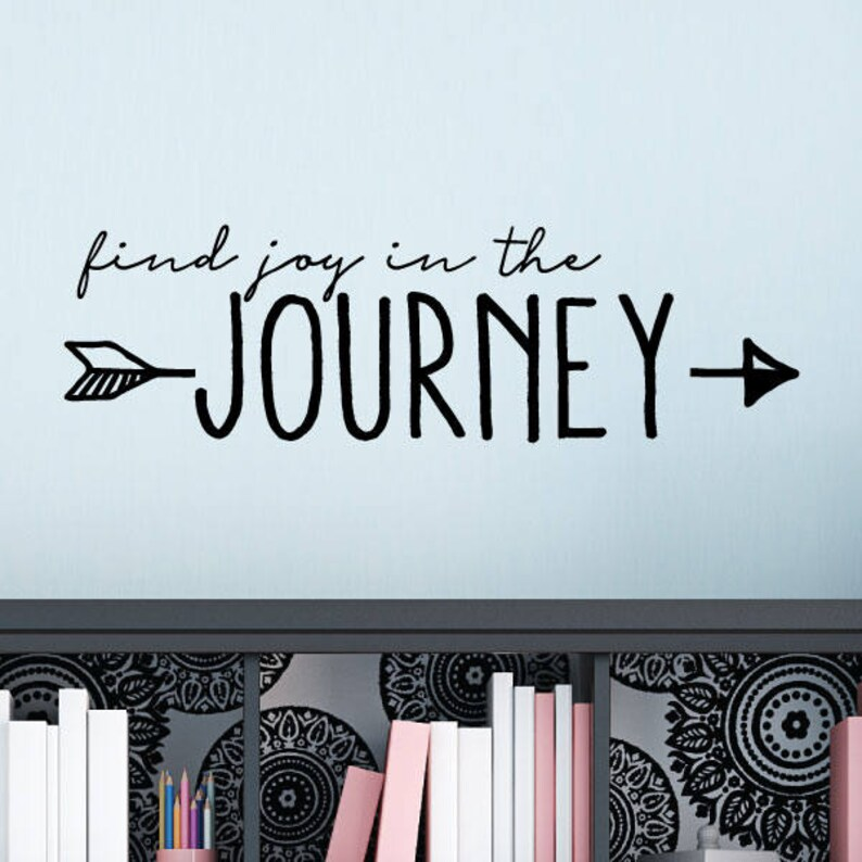 find joy in the journey wall quotes vinyl wall decal travel | etsy