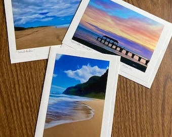 Tropical V -Blank Card Set (3)- Kauai
