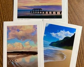 Tropical -Blank Card Set (3)- Kauai