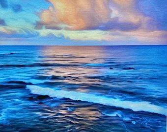 Butterfly Cloud Over Calm Sea, A/P Enhanced Giclee canvas