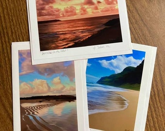 Tropical II -Blank Card Set (3)- Kauai