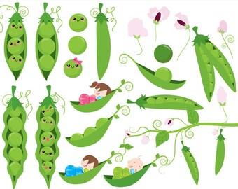 Premium Vector | Two peas in a pod. vector illustration