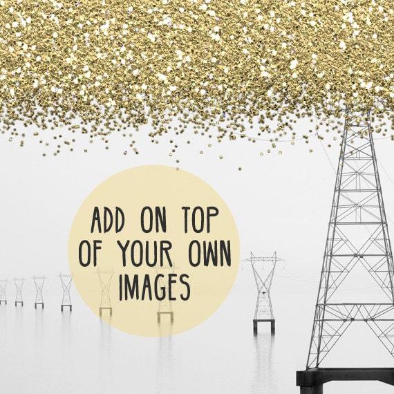 Glitzer Grenze Glitzer Clip Kunst Verkauf Clipart Goldglitter   Etsy