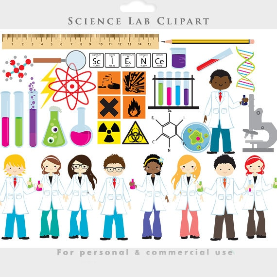 science clipart chemistry lab clip art test tubes scientists etsy rh etsy com science lab clipart black science teacher science lab clipart black and white