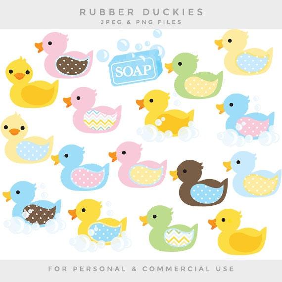 Gummi-Enten-Clipart Baumschule Clip Kunst Duckies ducky | Etsy
