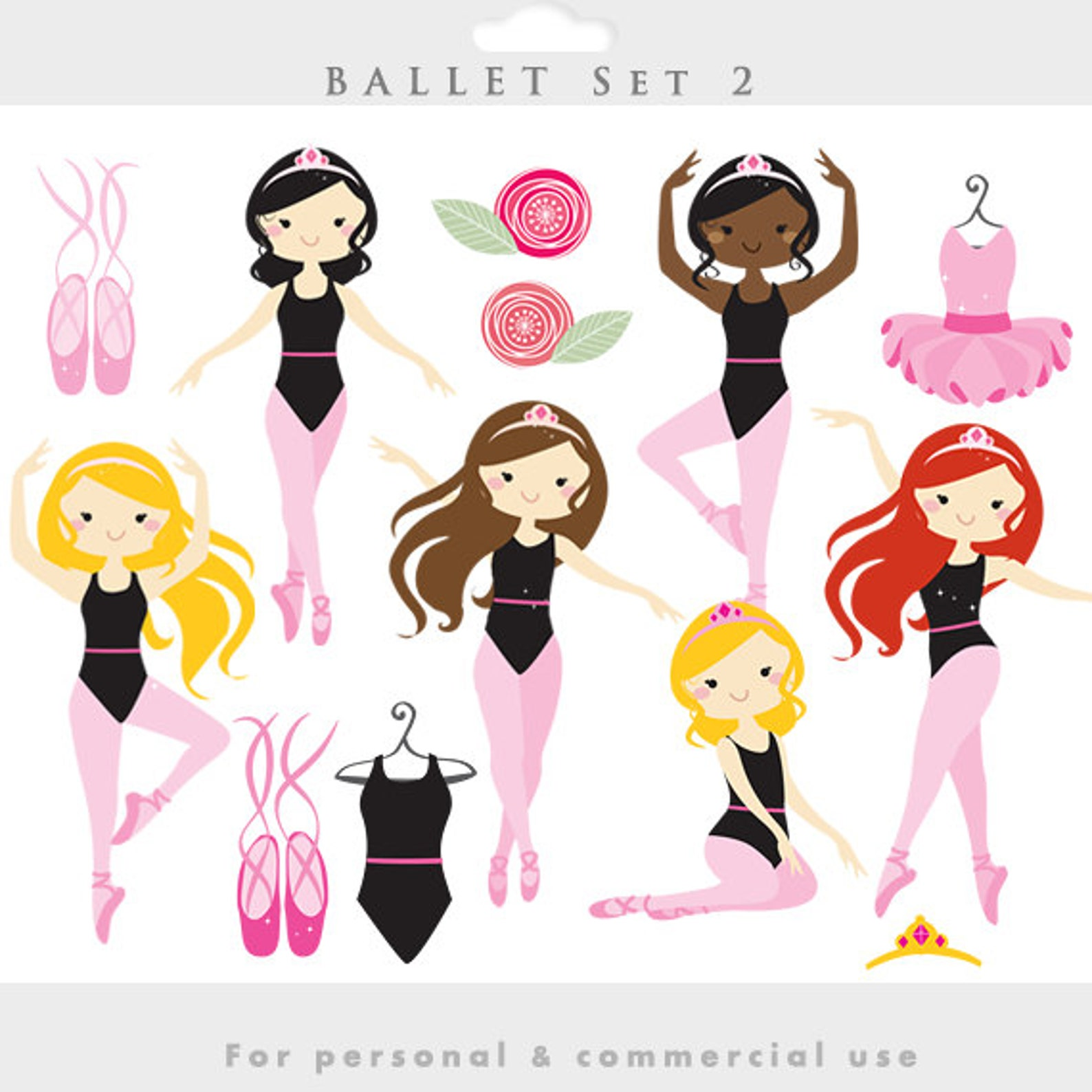 ballerina clipart - ballerina clip art, girl ballet, dancing, dance, dresses, slippers, ballet shoes, girly, for personal and co