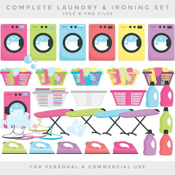 Wäscheservice-Clipart Wäsche Clip Kunst Waschmaschine | Etsy
