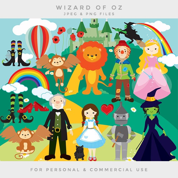Wizard of Oz clipart clip art Dorothy scarecrow cowardly ...