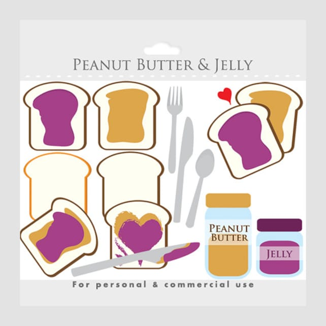 peanut butter and jelly clipart toast peanut butter jam etsy rh etsy com peanut butter and jelly clipart peanut butter and jam clipart