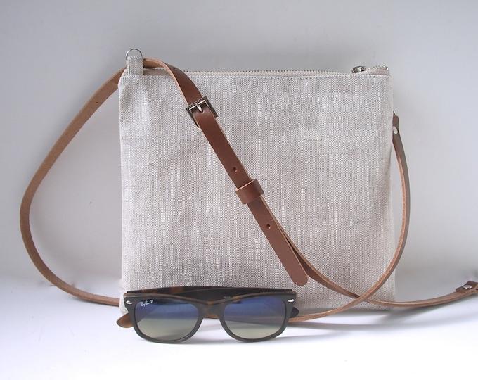 CrossBody Bag,  Casual Linen Crossbody Bag