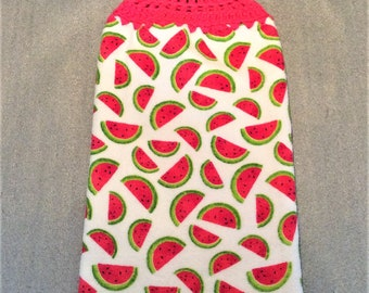 68c496d3e4d WATERMELON SLICES Extra Thick Double Layer Hanging Crochet Towel
