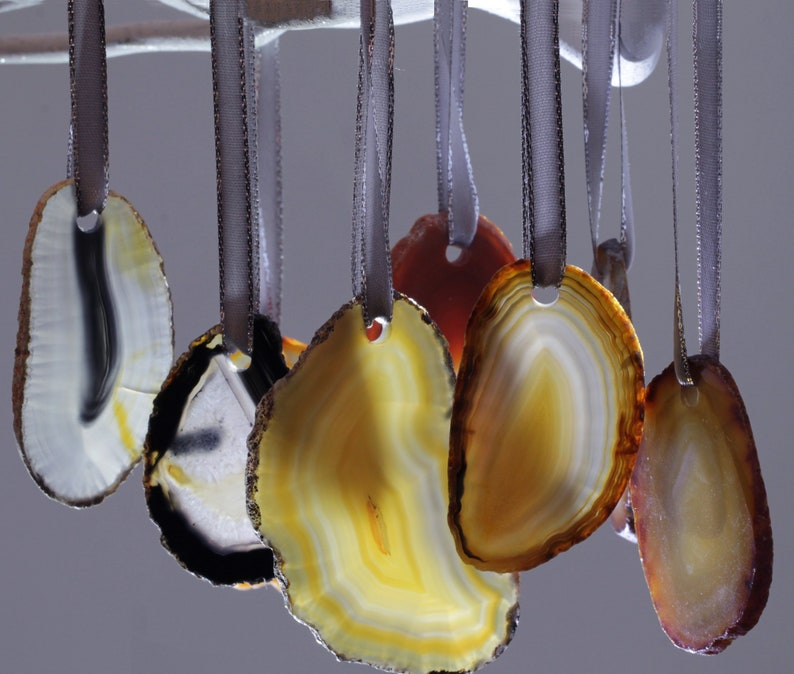 Natural Agate Slice Ornaments One of a Kind Ornaments Agate image 0