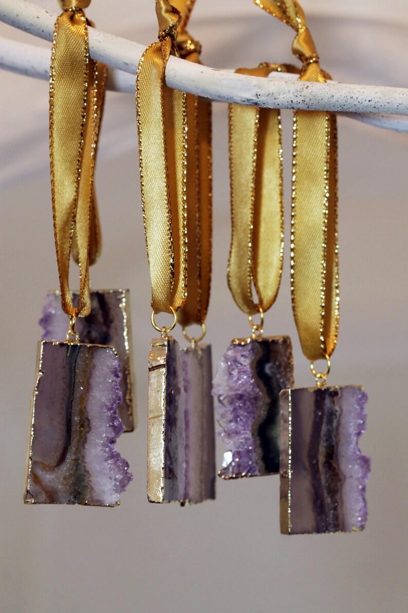 Raw Amethyst Crystal Ornaments OOOAK Amethyst Ornaments image 0