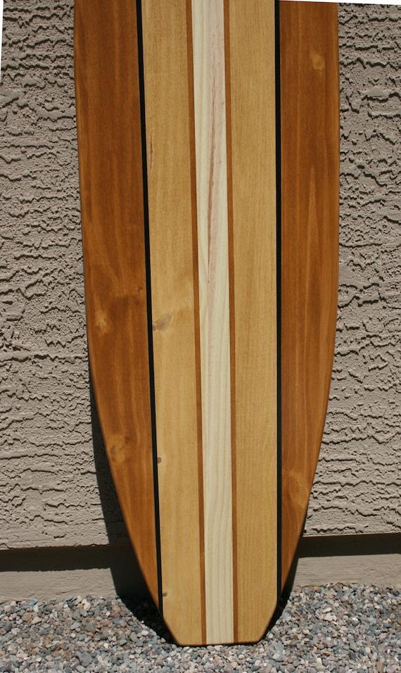 Surfboard Wall Art Wood Surfboard Surf Decor Surfboard Headboard Vintage Style Surf Decor Beach House Decor Beach Room Decor