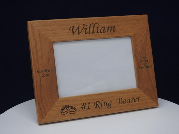 Any Message Personalised Engraved Portrait Wooden Photo Frame 4x6 5x7 8x10