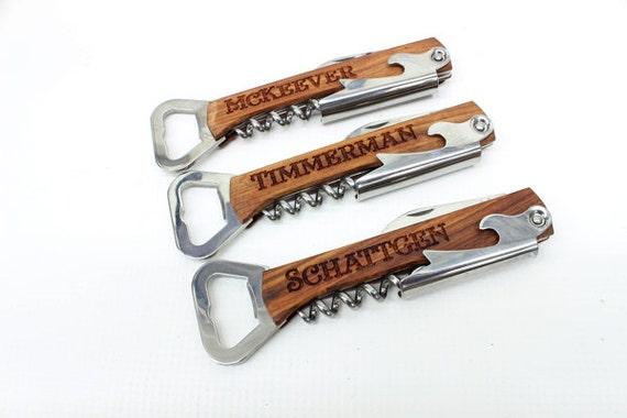 Personnalisés Mariage Bière Support de bois et ouvre-bouteille bière Usher cadeaux