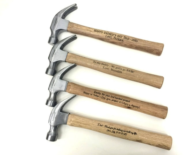 Personalized Hammer,Engraved Hammer,Gift for Dad,Fathers Day,Groomsman Gift,Best Man Gift,Father of Bride,Father of Groom,Claw Hammer
