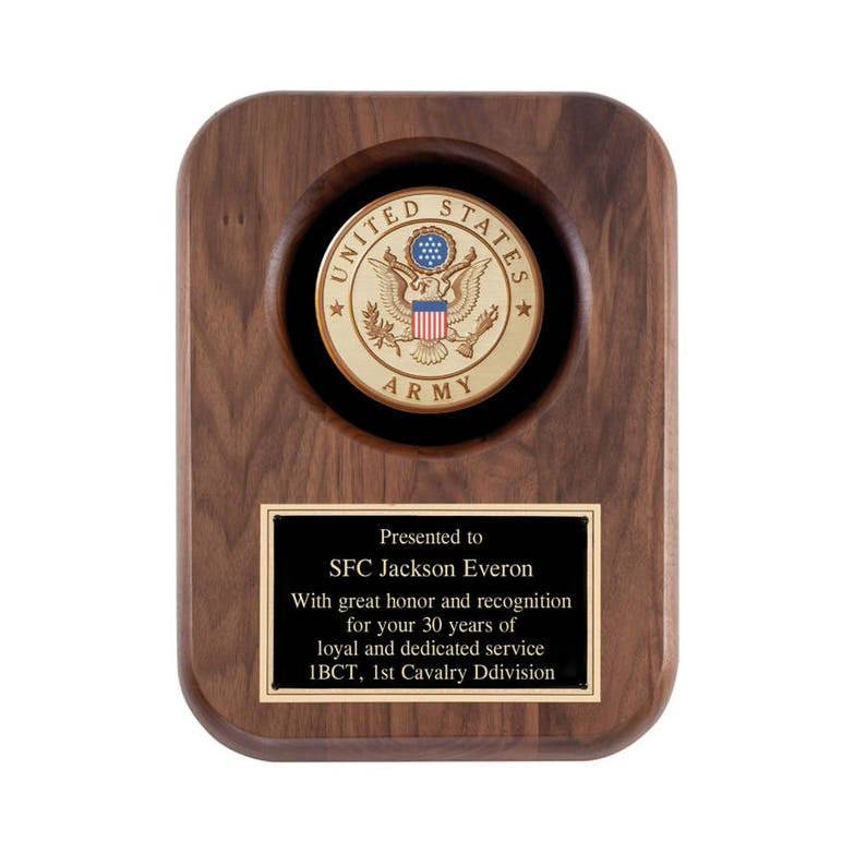 US Army Recognition Plaque