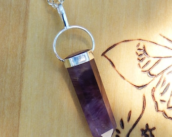 Amethyst Pendulum Necklace in Sterling Silver