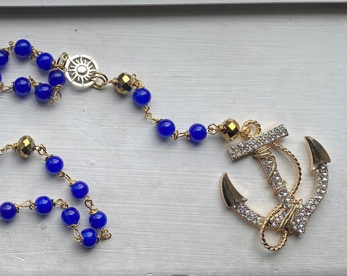 Supernatural Rosary - Benny Rosary - Art Glass Wire Wrapped Rosary