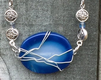 Supernatural Season 15 God's Having a Mid-Eternity Crisis Wire Wrapped Necklace Ready to Ship