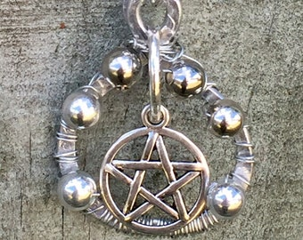 LAST CHANCE SALOON - Our Final Premiere - Supernatural Inspired Wirewrapped Necklace Pentagram