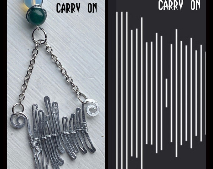 Supernatural Jewelry - Carry On Sound Wave Wire Wrapped Necklace - Sound Wave Jewelry