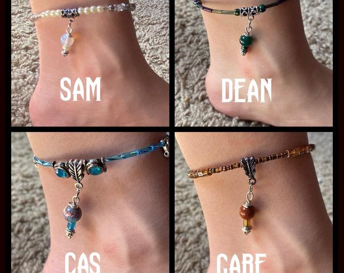 Supernatural Wrap Anklets - Sam Winchester Dean Winchester Castiel Gabriel