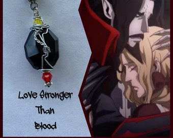 Dracula and Lisa - Love Stronger than Blood - Castlevania Inspired Wire Wrapped Necklace