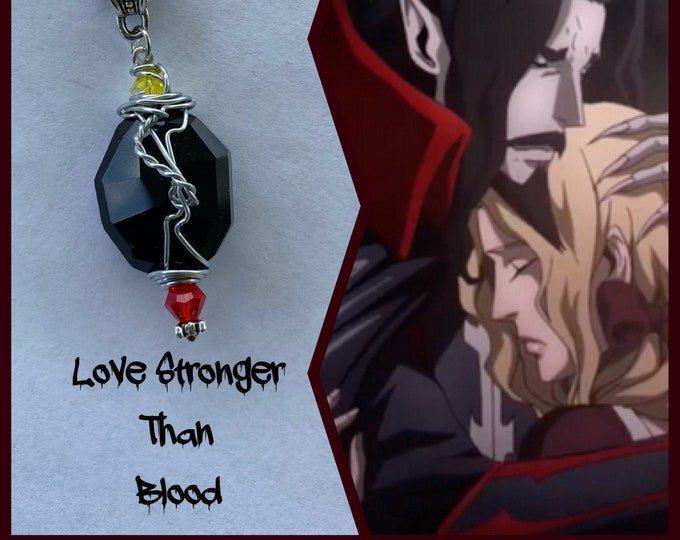 Castlevania Jewelry - Dracula and Lisa - Love Stronger than Blood - Castlevania Inspired Wire Wrapped Necklace