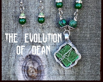 The Evolution of Dean Winchester - Supernatural Inspired Wire Wrapped Necklace Earrings Jensen Ackles