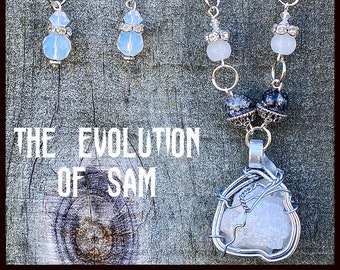 The Evolution of Sam Winchester - Supernatural Inspired Wire Wrapped Necklace Earrings Jared Padalecki
