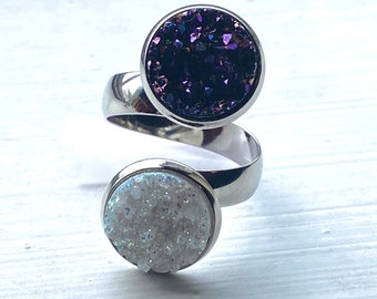 Star Wars Jewelry - Design Your Own Star Wars Ring - Faux Druzy Adjustable Band - Choose Han. Leia, Luke, Darth Vader and more!