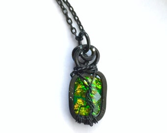 Dean's Cat-Like Reflexes - Supernatural Dean Winchester Inspired Wire Wrapped Necklace Fan Art Jensen Ackles