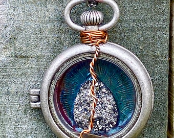 The Other Side of Victory - Supernatural Inspired Wire Wrapped Pocketwatch Locket