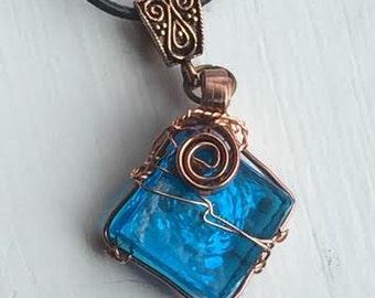 Castiel's Head Tilt - Misha Collins Cas Supernatural SPN SPNFamily Blue Copper Leather Cord
