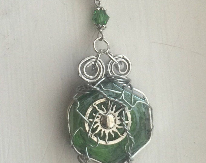 Supernatural Jewelry - Dean's and Crowley's Summer of Love - Wire Wrapped Necklace