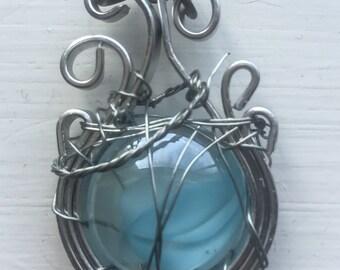 Castiel's Aura - Castiel Misha Collins Supernatural Fan Art Wire Wrapped Necklace