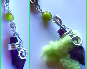 Broly Inspired Wire Wrapped Crystal with Removable Ba - Dragon Ball Super Broly Movie Inspired Fan Art