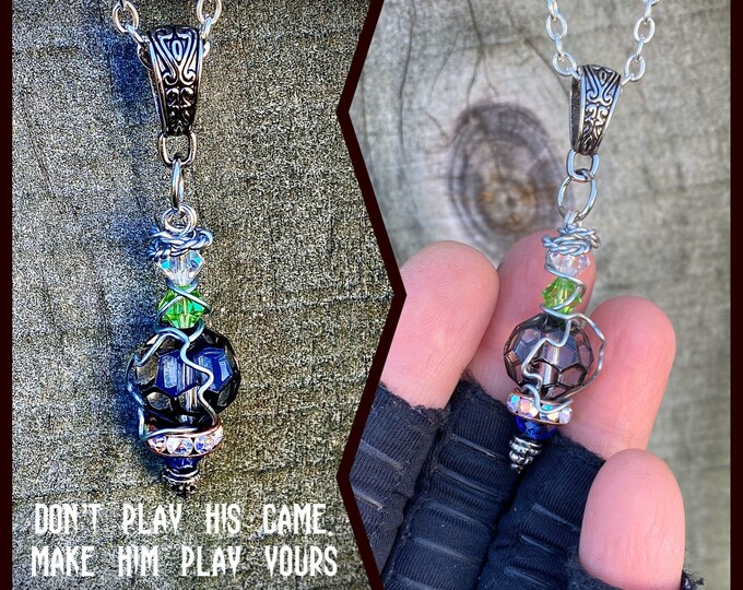 Supernatural Jewelry - Don't Play His Game. Make Him Play Yours Wire Wrapped Necklace Ready to Ship
