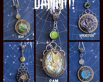 Dammit - Supernatural Inspired Wire Wrapped Necklaces Sam Dean Cas Gabe Winchesters