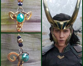 Loki Inspired Wire Wrapped Necklace - Avengers Marvel Tom Hiddleston Fan Art