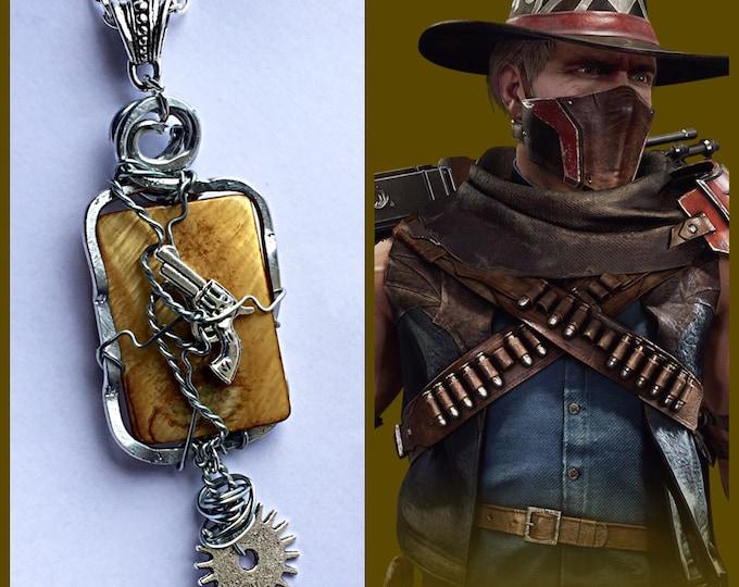 Erron Black Inspired Wire Wrapped Necklace - Mortal Kombat Inspired Fan Art