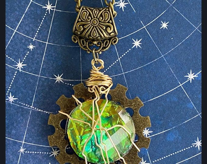 Supernatural Jewelry - - Screw You, Chuck- Wire Wrapped Steampunk Necklace Ready to Ship