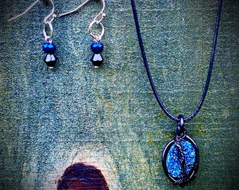 God is Unhappy with His At-Home Viewing Experience - Supernatural Inspired Wire Wrapped Necklace Earrings Chuck Rob Benedict